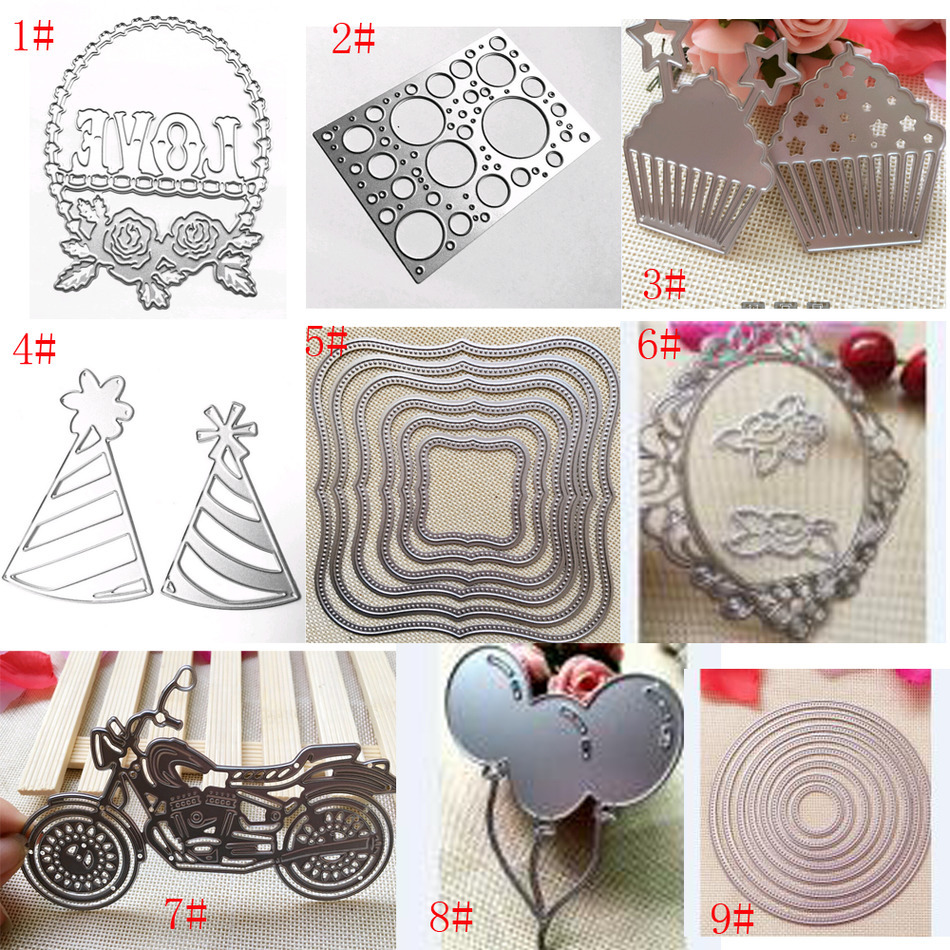 DIY Paper Card Embossing Scrapbook Dies Cutting Knife Mold Thin Metal DIY photo card making tools Goffratura Fustellatore