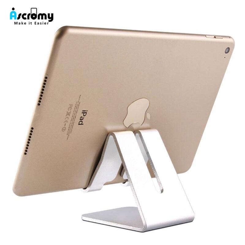 Soporte para tableta de escritorio de Metal de aluminio para iPad Pro 10,2 11 Mini Xiaomi Mi Pad 4 Samsung 10,1 pulgadas Tablet Stand cama Universal