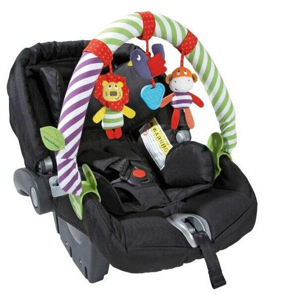 Baby Toys Crib Mobile Stroller Hanging Soft Zebra Monkey Plush ...