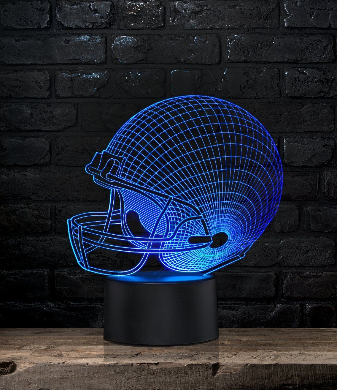 Night Light Nightlight Light Nightlight Football Helmet Night Light 7 Colors 3D Effect Led Light Does Not Get Hot