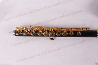New flute 17 hole Open Gold Plated Key E key High quality ebony wood #5