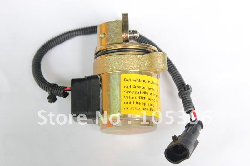 1011 Fuel Shutdown Shut Off Solenoid Valve 0428 7116 04287116 Engine +fast shipping by FEDEX/DHL fuel shut off solenoid valve coil 3964624 fits excavator engine