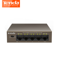 Tenda TEF1105P 4 63W Ethernet Network Switch 10 100Mbps 5 Port POE Power Input 51V 1