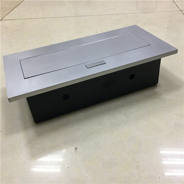 Multifunctional office desk, conference table, pop up desktop outlet, universal three insert network telephone.