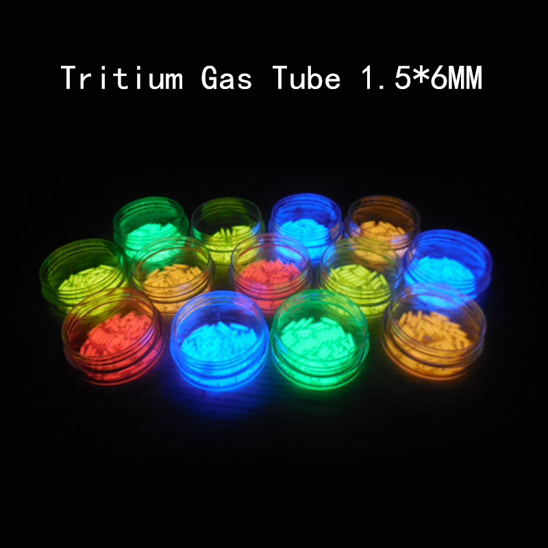 1PC 1.5mm*6mm Tritium Gas Tube Self-illuminating 15 Years Outdoor Lifesaving Tools Emergency Lights DIY Pendant Accessories