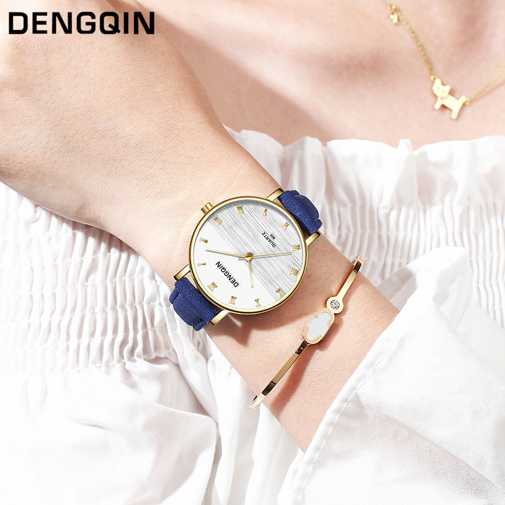 Top Brand Fashion Ladies Watches Leather Female Quartz Watch Women Thin Casual Strap Watch Reloj Mujer Marble Dial #YT223 1