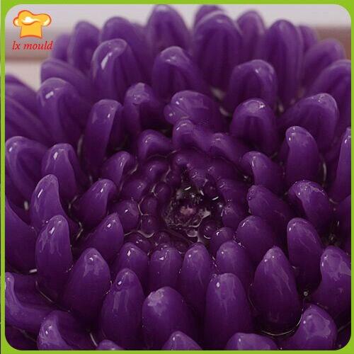 Chrysanthème fleur décoration de la maison bougie silicone souple moule résine argile TaoHua moule gâteau décoration bonbons moule savon moule - 4