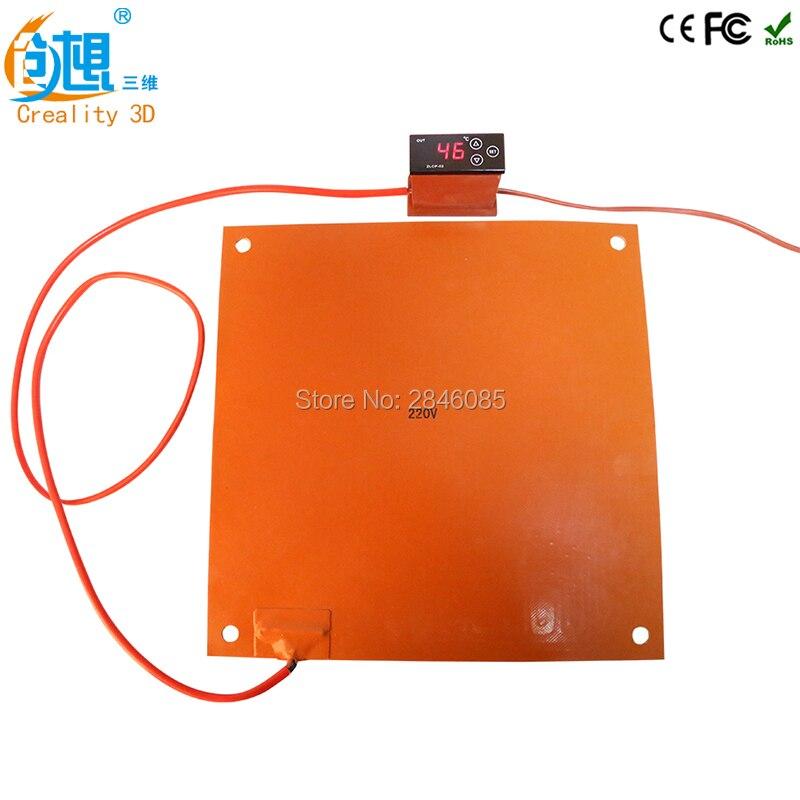 220 v/110 v En Option Nouvelle Mise À Jour 3D Imprimante Pièces Silicone Chauffe Pad 3.4/6.8A 750 w pour creality 3D CR-10 4S 5S