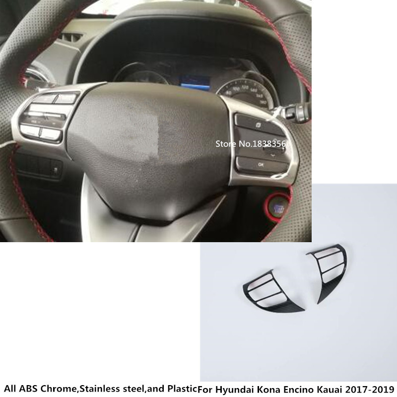 For Hyundai Kona Kauai Encino 2018 2019 Car Steering Wheel: Aliexpress.com : Buy Car Styling Inner Detector Stick