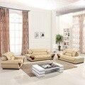 Sofá de cuero, sofá seccional, muebles de salón, 123 sofá seccional sofá de la esquina de exportación al por mayor