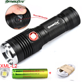 3500LM ZOOM CREE XM-L2 LED 3 Mode USB Rechargeable Flashlight Torch +18650 Battery