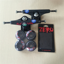 2016 Free Shipping Skateboard Parts Royal Aluminum 5.25″ Skate Trucks And Element Skate Wheels with Zero Riser Pads