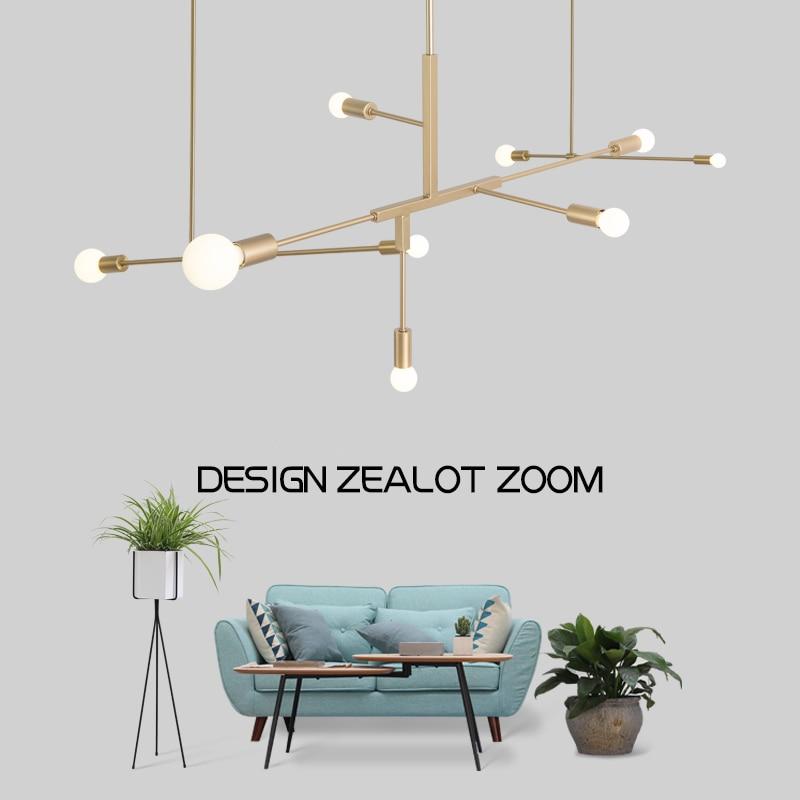 Nordic Moderne Goud LED Hanglampen slaapkamer eetkamer keuken hanglampen for a eetkamer E27 LED Lamp Edison Gloeilamp
