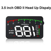 3.5 inch Car Display HUD Head Up Display OBD2 Car Speedometer Windshield Projector Overspeed Alarm Driving Data Diagnostic Tool