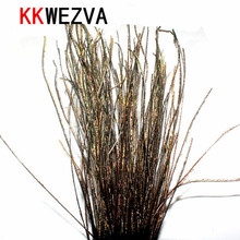 цена на 1 Bag Natural Peacock Herl Feather Wire Fly Tying Material Olive Green Fly Fishing Lure Bait Nymphs Streamers Flies Accessories