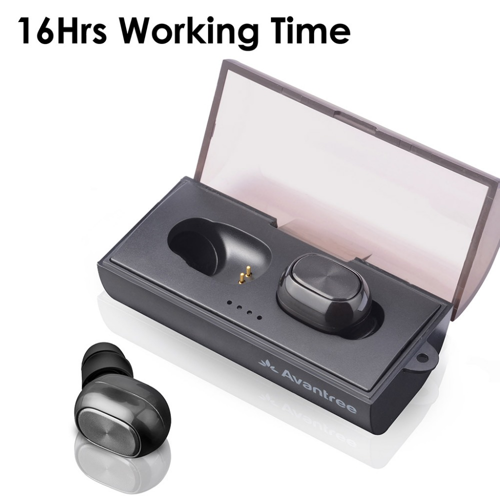 Mini Wireless Earbuds, True Wireless TWS Headphones IPX5 Waterproof Headset With Portable Wireless Charging Station Built-in Mic