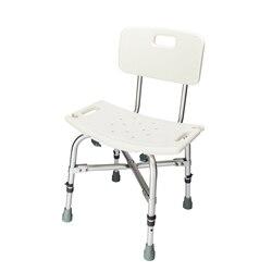 Heavy duty osób w podeszłym wieku do kąpieli ławka prysznicowa krzesło medyczne ze stopu aluminium ze stopu aluminium krzesełko do kąpieli stołek z oparciem wanna krzesło dla starych US magazynie w Krzesła do mycia włosów od Meble na