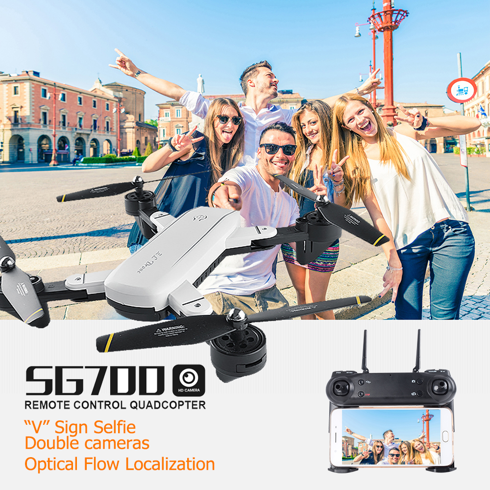 SG700 2MP Rc Quadcopter with Camera Wifi FPV Foldable Selfie Drone Altitude Hold Headless Gesture Control Dron vs E58
