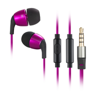 Wallytech W802 HONEYBEE In Ear Stereo Metal Earphone With Microphone And On Off Remote Flat TPE