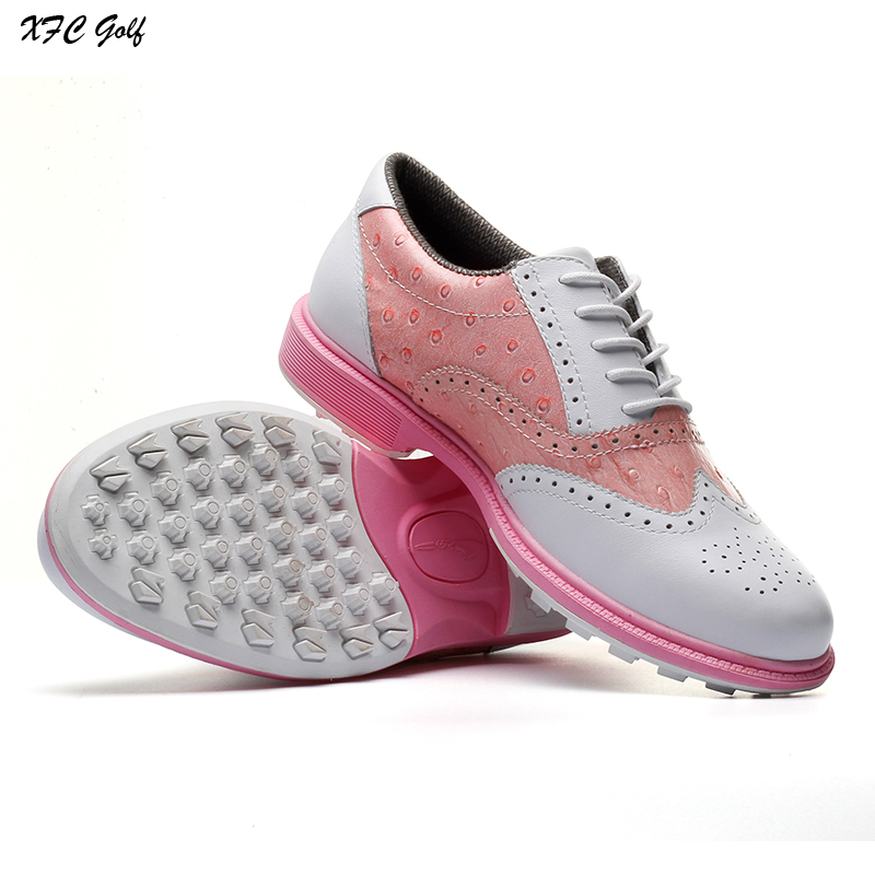 2017 Golf shoes women sneakers Genuine Leather sportwear ladies athletic zapatillas hombre deportiva mujer simulation mini golf course display toy set with golf club ball flag