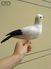 cute real life black&white Seagull model foam&feather seagull bird about 30x20cm xf0021