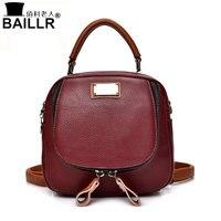 2017 Genuine Leather Women Backpacks Famous Brands Woman Shoulder Bag Luxury Multifunction Handbags Women Bags Mochila