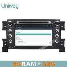 Uniway 2 г + 32 г 2 DIN Android 6.0 автомобиль DVD для SUKUZI grand vitara Мультимедиа автомобилей Радио стерео GPS с руль