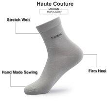 2018 Men Bamboo Socks Brand Guarantee Anti-Bacterial Comfortable Deodorant Breathable Casual Business Man Sock (10 Pairs / Lot)