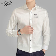 5bbe2dd590b Spring Brand New Men Shirt Male Dress Shirts Men s Fashion Casual Long Sleeve  Slim Business Formal