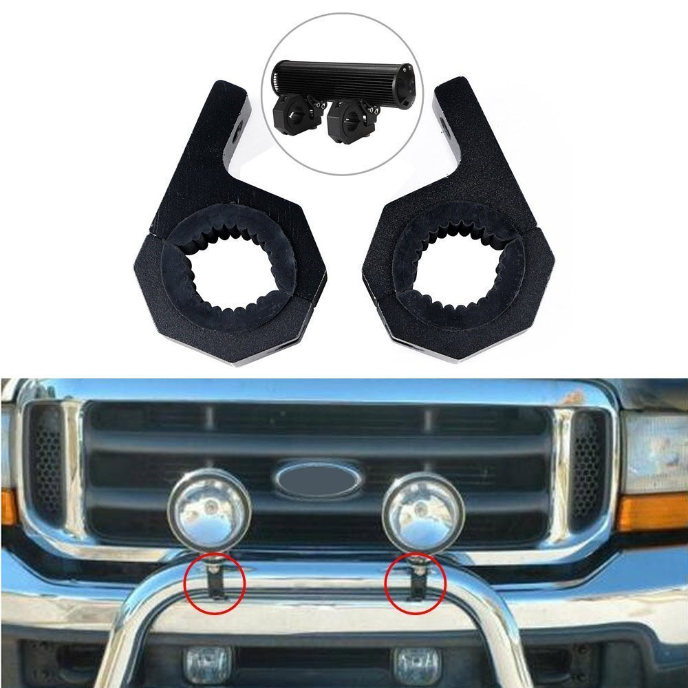 2 pcs Aluminum Mount Clamps Bracket Fit 4x4 Offroad UTV ATV Lamp mount Tube Round Tube Roll Cage Holder Car Bumper Light Bar