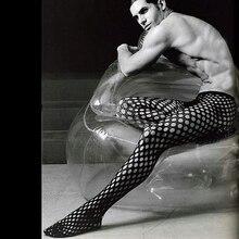 Atractiva de los hombres Gay de la Ropa Interior de rejilla transpirable que absorbe masculino casual medias pantalones medias de red Calcetines de gimnasia hombres