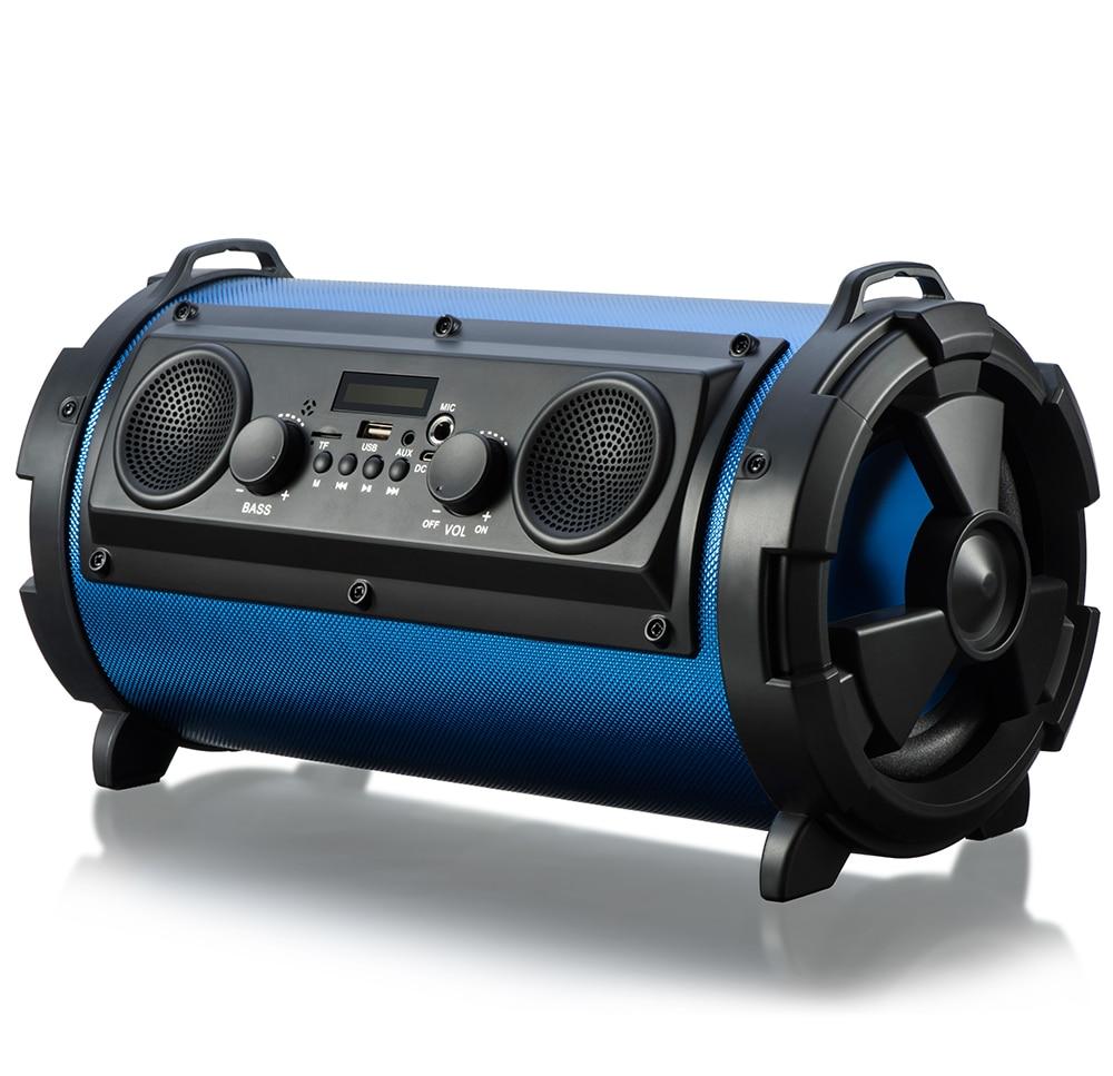 Cylindre Portable 15W énorme puissance HiFi sans fil Bluetooth haut-parleur Woody Cool lumière LED stéréo Super basse lecteur de musique