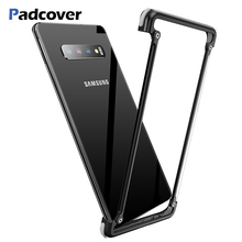 PADCOVER Original Airbag Metal Case for Samsung Galaxy S10 Personality Shell Bumper Cover plus