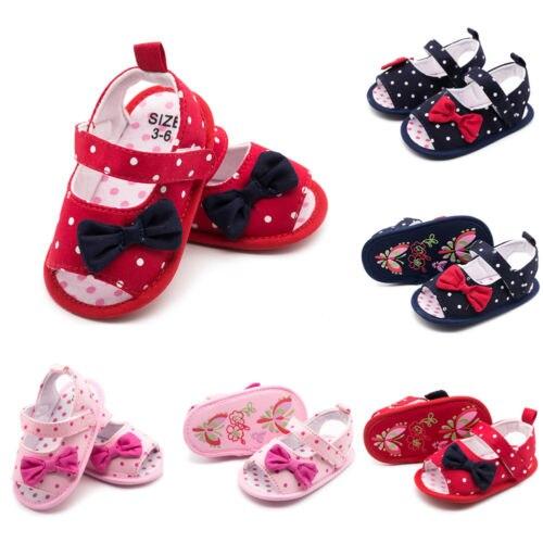 Emmababy Toddler Baby Shoes Newborn Girls Soft Soled Princess Crib Shoes Prewalker 3-18M ...