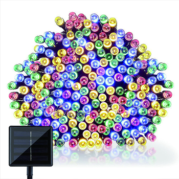 solar powered operated 72ft 200 led string lights outdoor waterproof coloured fairy with control modes changing twinkle light комод saga ingvar coloured body light