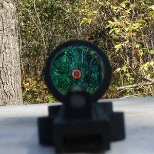 Image 2 - ציד סקופס קל משקל סיבי Sight 1x28 אדום Dot Sight היקף אדום וירוק סיבי Fit רובי ציד צלעות רכבת ציד ירי