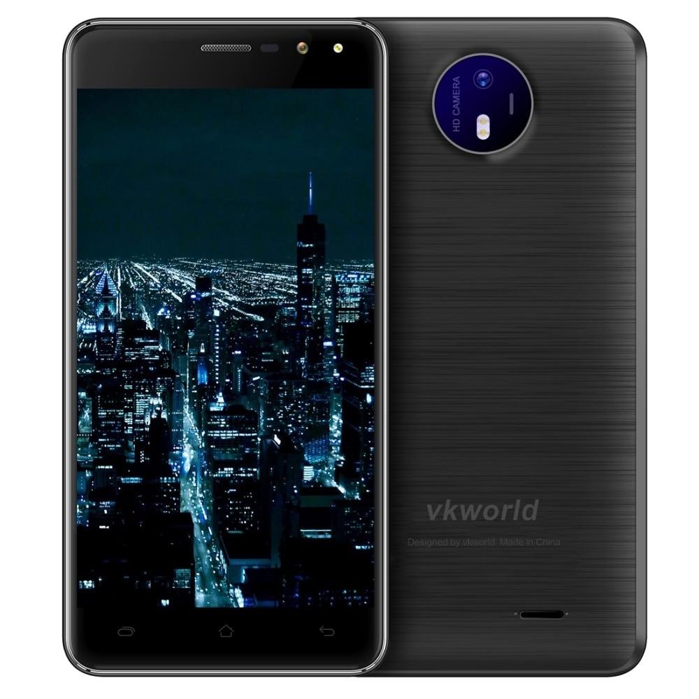Original VKworld F2 Mobile Phone 5.0 inch HD IPS MTK6580A Quad Core Android 6.0 2GB RAM 16GB ROM 8MP Cam Dual Flash GPS FM OTA