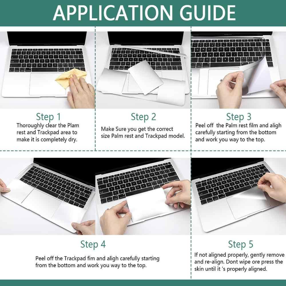 Para palm + touch pad all-interno resto capa com trackpad protetor adesivo pele para macbook ar pro retina 1/12 13 15 16 barra de toque