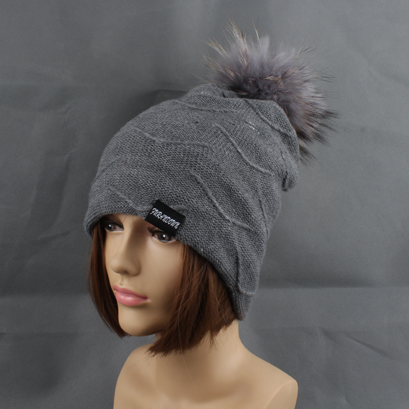 2019 Womens Topi Bulu Hangat Di Dalam Topi Beanie Gadis Musim Dingin - Aksesori pakaian - Foto 6