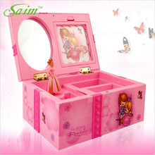 Saim Dream Girl Music Box Plastic Musical Jewelry Boxes Hand Crank Music Box Dancing Ballerina Music Boxes for Girls Gift A-088 dream box