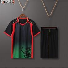 HOWE AO быстросохнущие мужские спортивные костюмы для бега, баскетбола, футбола, тренировочные костюмы, летняя спортивная одежда для фитнеса, комплекты одежды для спортзала