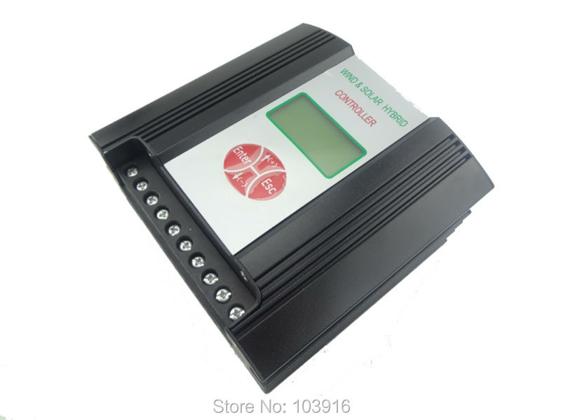 1 PCS of 600W 24V (VAC input) Hybrid wind charge controller, wind regulator, Wind Solar Charge Controller hybrid wind solar charge controller 600w regulator 48vac input wind charge controller