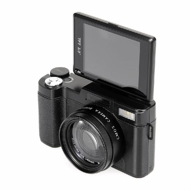 MEMTEQ 3″ TFT LCD Full HD 24MP Digital Camera Video 1080P Camcorder CMOS Video Lens  + Filter Mini Digital Camera