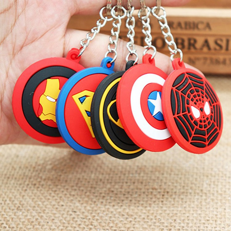 5-Styles-The-Avengers-Hero-Anime-Keyring-Spiderman-3D-Double-Side-Silicone-Keychain-Captain-Cartoon-Keychain_conew1