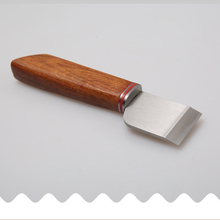 Wood Handle Leather Cutting Blade Knife Elegant DIY Handwork Tool Leather Cutting Knife
