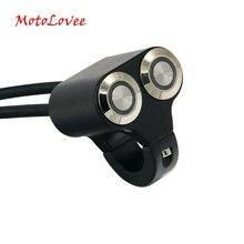 Motolovee 22 мм мотоцикл переключатели велосипедное крепление переключатель фар опасности Тормозная туман свет ВКЛ-ВЫКЛ Алюминий сплава со светодиодной