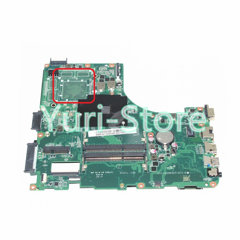 NOKOTION DA0ZQNMB6D0 For acer aspire E5-421 E5-421G Laptop motherboard NBMLN11004 NB.MLN11.004 A4-6210M ddr3 free shipping for acer tmp453m nbv6z11001 ba50 rev2 0 motherboard hm77 tested