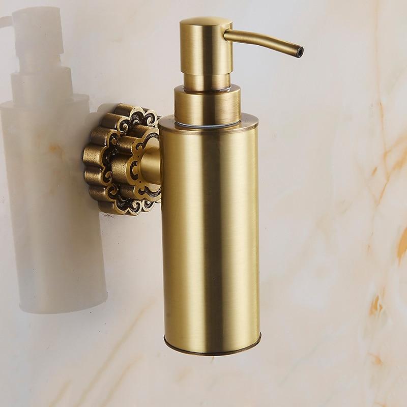 Vidric distributeurs de savon liquide laiton Antique mural shampooing distributeur de savon liquide porte-savon accessoires de salle de bain
