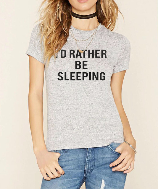 COOL Funny Sexy I'd Rather Be Sleeping Cotton T-Shirts