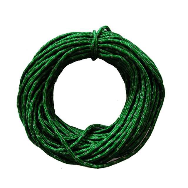 2.5MM 15.24m Camping Tent Awning Reflective Rope Runners Guy Line Cord Paracord Parachute Tent Accessories